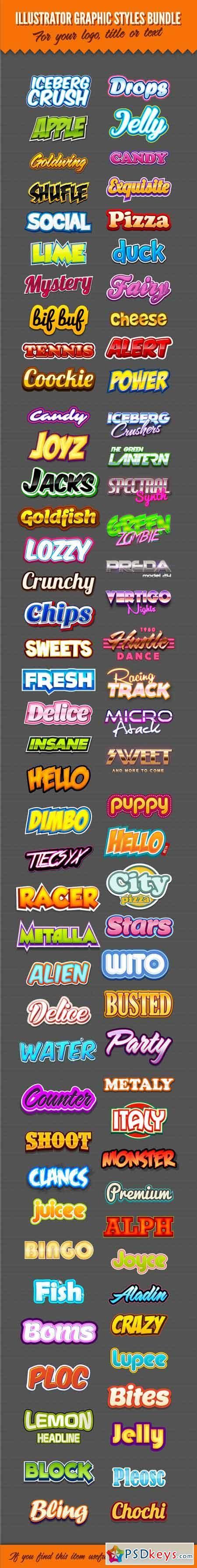 Illustrator Logo Graphic Styles Bundle 1 9434136