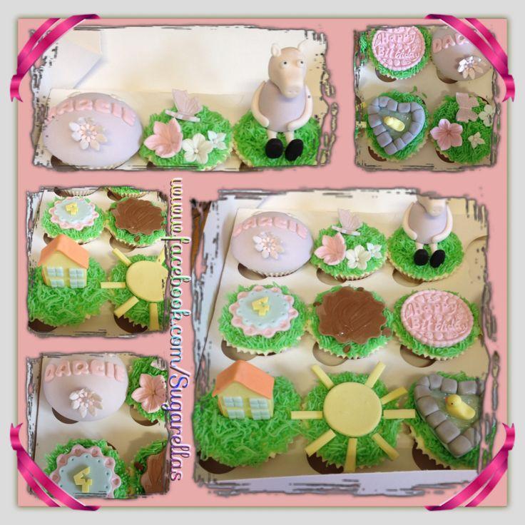 Peppa pig cupcakes!!