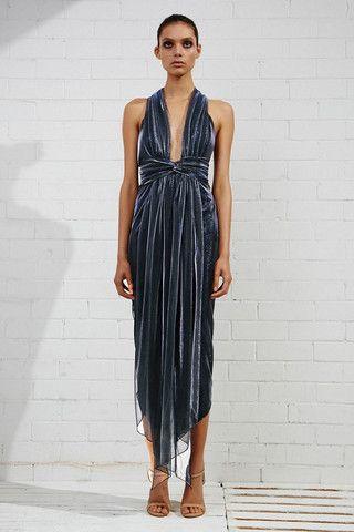 Shona Joy Meriel Plunged Shawl Maxi Dress – Eclectic Ladyland