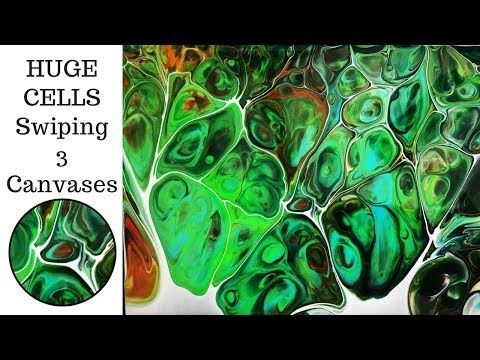 Acrylic Pouring, Golden Fluid Acrylics, Silicone and Dirty Flip Cups - YouTube