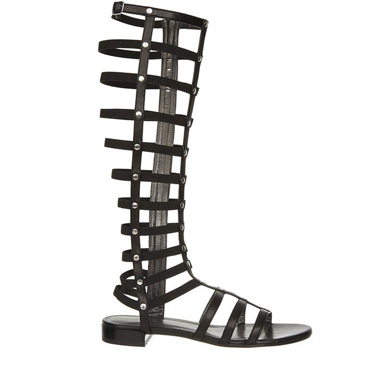 Sandaal 576 gladiator zwart stuart weitzman