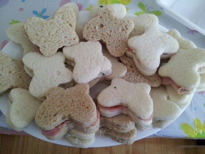 #Butterfly sandwiches# #first birthday# #kids party food#