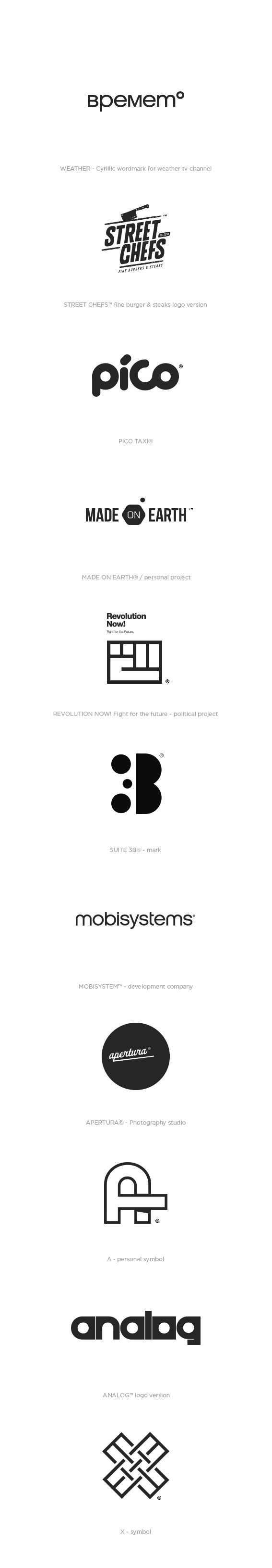 Marks & Logos 2014 on Behance