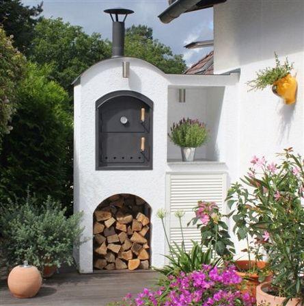 Ramster´s Holzbackofen-Shop – Holzbackofen Flammkuchenofen und Brotbackofen – Bilder von umbauten / eingebauten Öfen