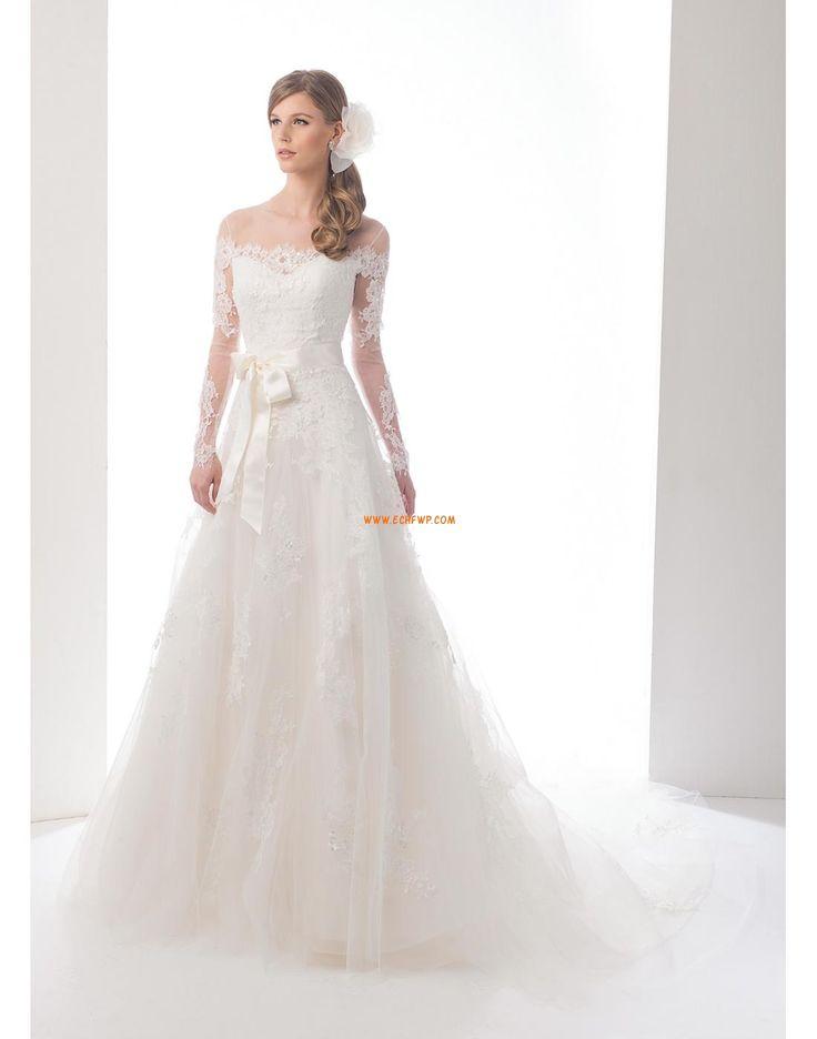 A-vonalú Ragyog & Csillog Természetes Menyasszonyi ruhák 2015