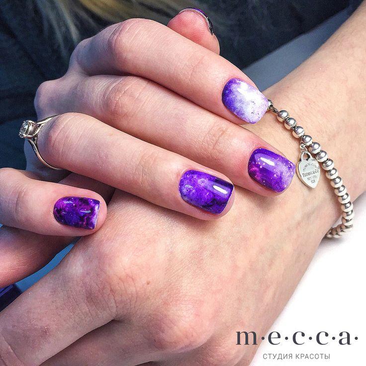 Красивые ногти  Фиолетовые ногти  Nails nail Нежные ногти  Нежный маникюр  Идеальный маникюр  Свадебный маникюр  Стильный маникюр  Милые ногти  Космические ногти ncla la_stickers