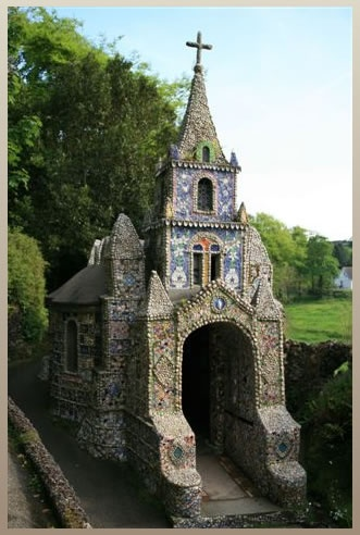 the shell chapel, guernsey, channel islands