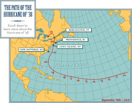 Use this map to show and explain where most Atlantic Hurricanes form, and what most of their trajectory is like.