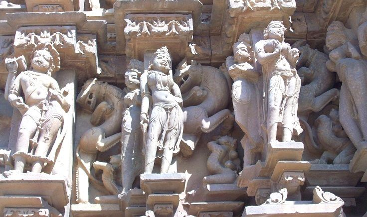 Images of Sculptures at Khajuraho Temples. Not all the sculptures carved on Khajuraho Temple walls are erotic.