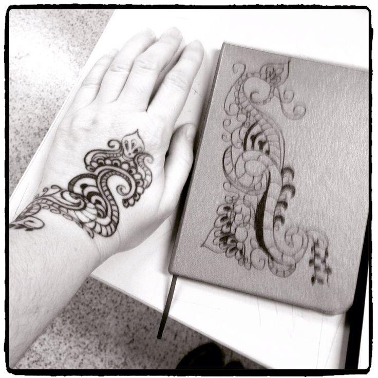 Tatuagens e cadernos