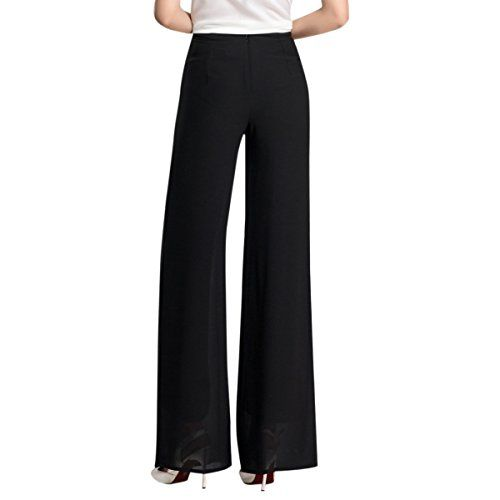 New Trending Pants: E.JAN1ST Womens Palazzo Pants Chiffon Flared Wide Leg High Waist Solid Long Pants, Black, Tagsize3XL=USsize2XL. E.JAN1ST Women's Palazzo Pants Chiffon Flared Wide Leg High Waist Solid Long Pants, Black, Tagsize3XL=USsize2XL  Special Offer: $26.99  233 Reviews E.JAN1ST Women's Palazzo Pants Chiffon Flared Wide Leg High Waist Solid Long PantsHigh waist, Wide legs, Solid pure color,...
