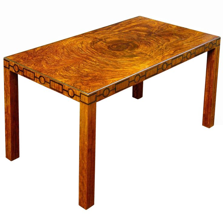 Very Fine Swedish Modern Classicism Coffee Table with Burl Top and Inlays | From a unique collection of antique and modern coffee and cocktail tables at https://www.1stdibs.com/furniture/tables/coffee-tables-cocktail-tables/