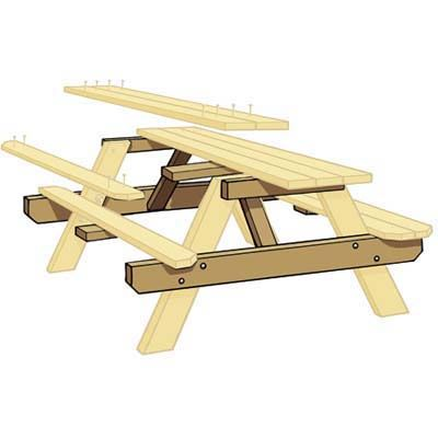 Illustration: Gregory Nemec | thisoldhouse.com | from How to Build a Picnic Table