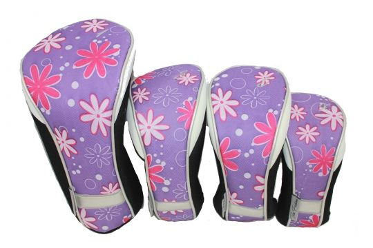 Love Golf Headcovers? Here's our  Petal Pusher Taboo Fashions Ladies Golf Club Headcovers (4-Pack Set)! Find plenty of Golf Accessories here at #lorisgolfshoppe