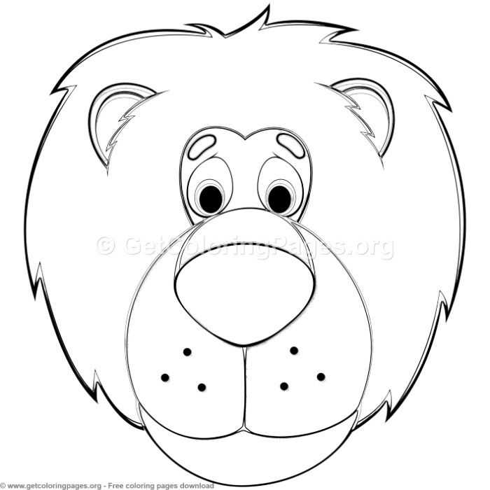Lion Animal Face Mask Coloring Pages Free Instant Download