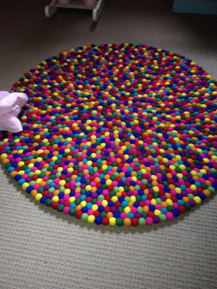Pom Pom Rug Crafts For My Girl S Pinterest Pom Pom
