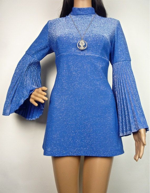 STUNNING 70s Sun Ray pleated circle sleeve by HuzzarHuzzar on Etsy
