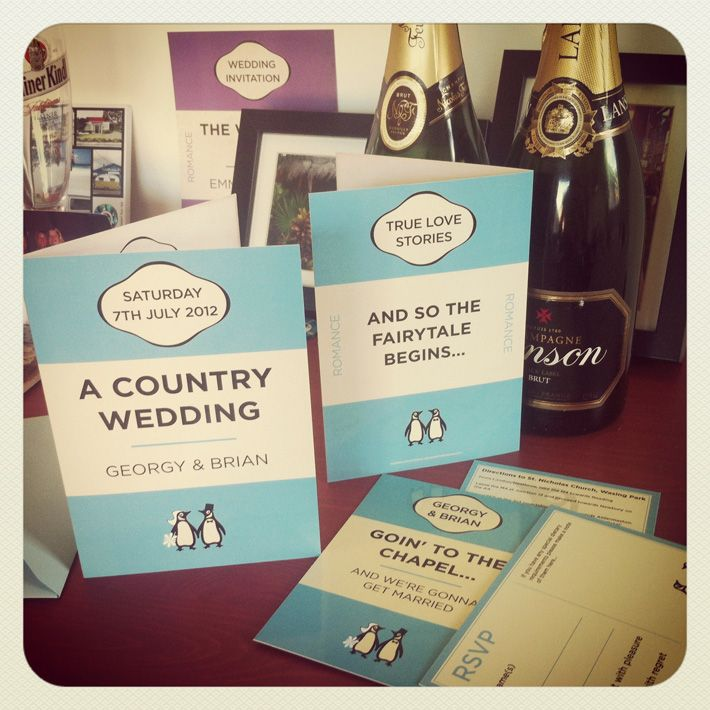 vintage penguin books wedding invitations wedding stationary
