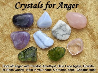 Crystals For Anger Crystals stones rocks magic love healing