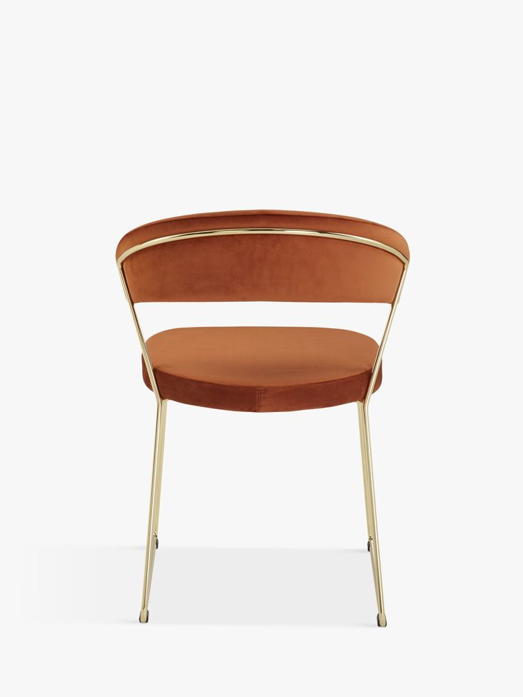 Connubia by calligaris new york velvet dining chair rust