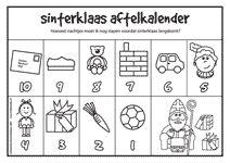 Knutselen Aftelkalender Sinterklaas voor peuter en kleuter op peuterplace.nl