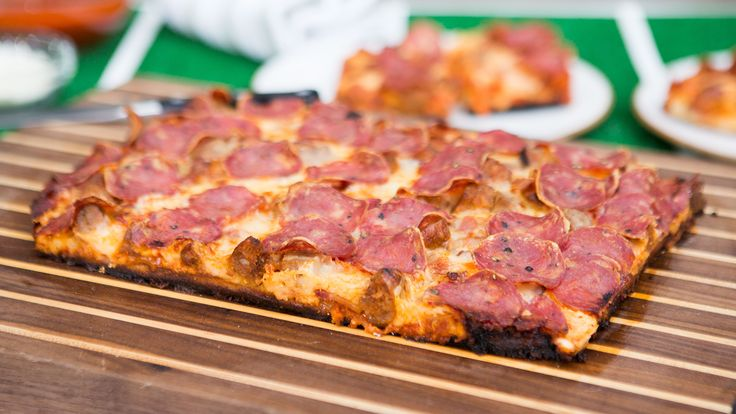 Spreading the cheese all the way to the edge of the pizza gives you a delicious bubbling, crispy crust.