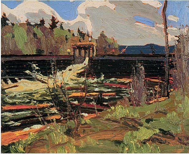 Tom Thomson Catalogue Raisonné | Tea Lake Dam, Fall 1915 (1915.82) | Catalogue entry