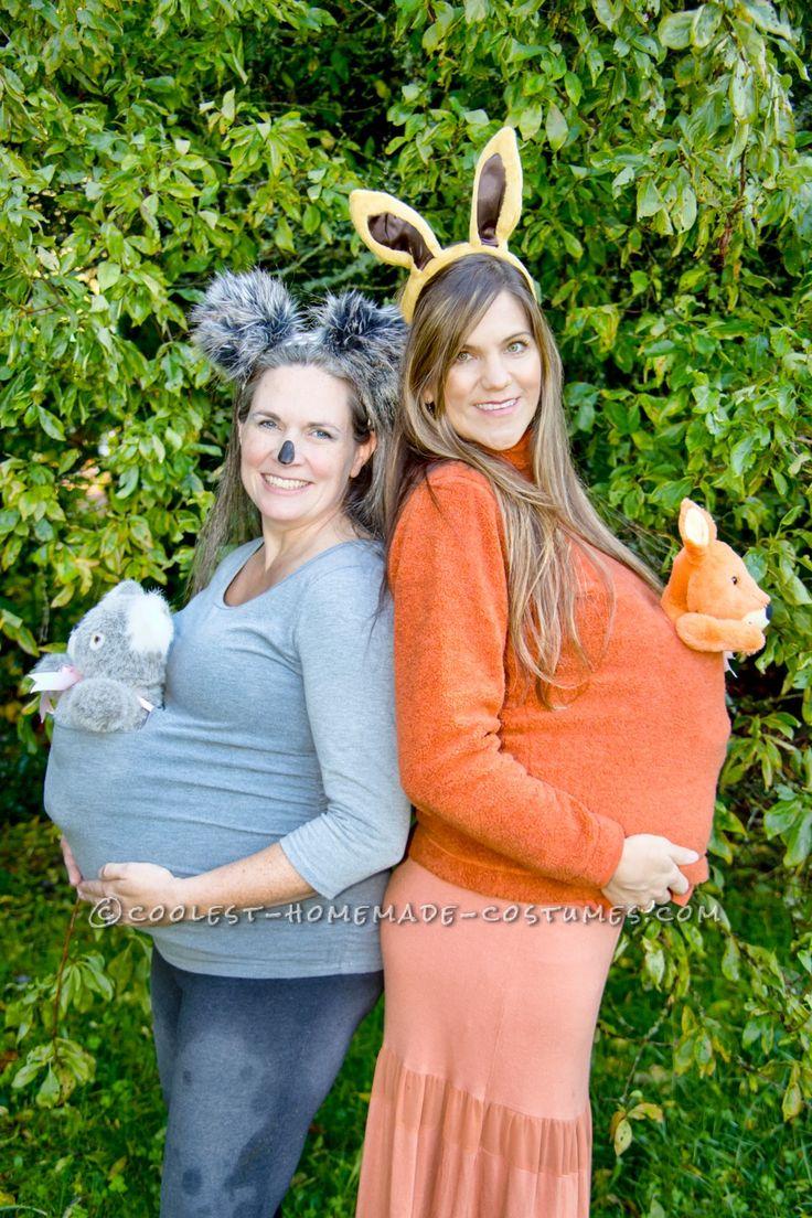 Cute and Easy Maternity Costume – Marsupial Mamas: Koala and Kangaroo... Coolest Halloween Costume Contest