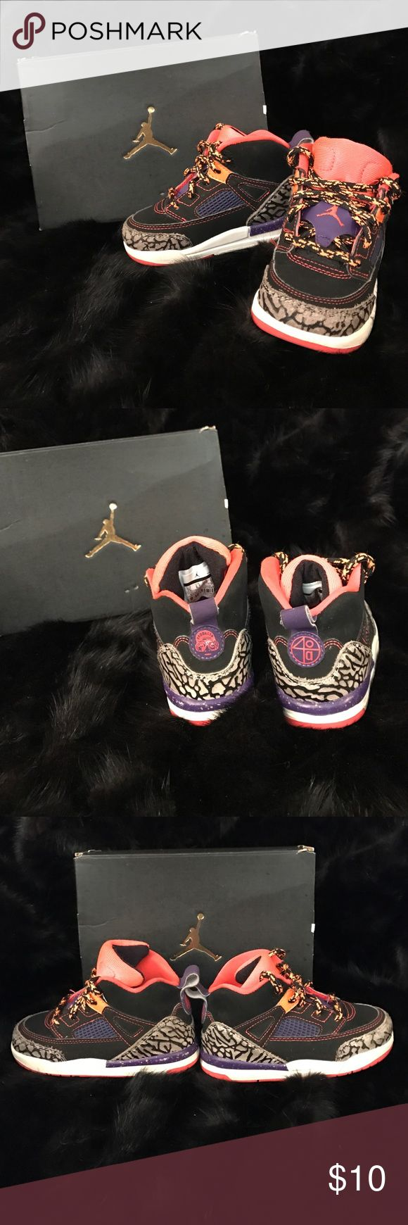 "Jordan Spizike LIMITED EDITION Looney Tunes ""Taz"" Slight wearing on the toe but not major. Sneakers are in great condition. Not at all abused. 100% authentic Jordan Shoes Sneakers"