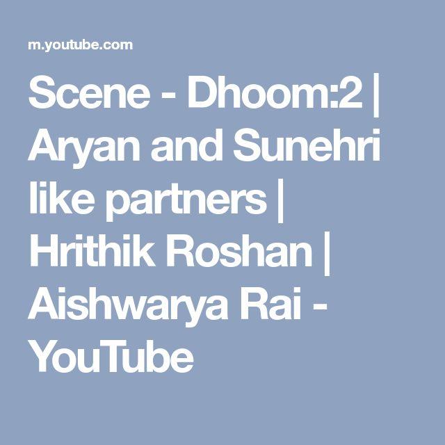Scene - Dhoom:2 | Aryan and Sunehri like partners | Hrithik Roshan | Aishwarya Rai - YouTube