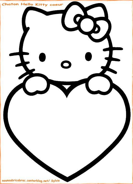 Coloriage Hello Kitty à colorier - Dessin à imprimer