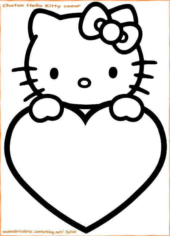 good Comment Dessiner Hello Kitty #3: Coloriage Hello Kitty à colorier - Dessin à imprimer