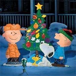 Charlie Brown Christmas yard art