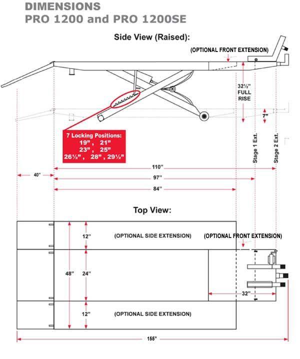 Avg Motorcycle Lift Dimensions : Best scissor lift table images on pinterest