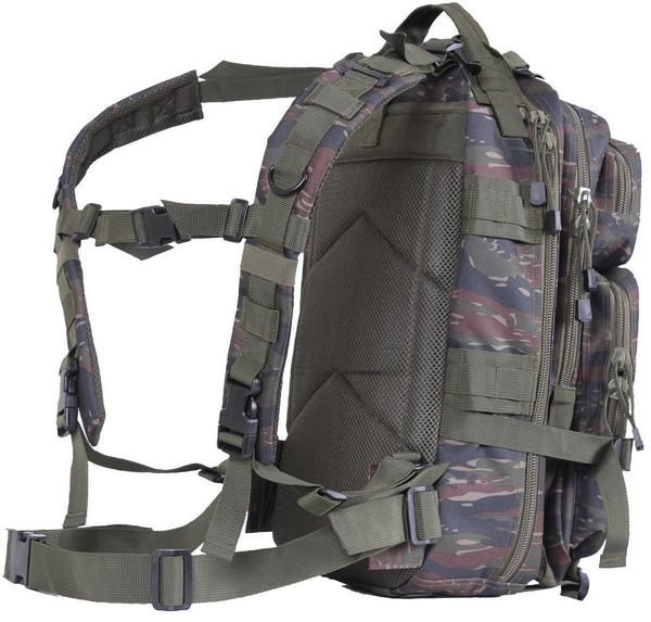 "TIGER STRIPE MEDIUM TRANSPORT PACK   MOLLE Compatible Tactical Pack Coated Lining & Pockets To Repel Water 600D Polyester Material 17"" x 10"" x 9"" One Large"