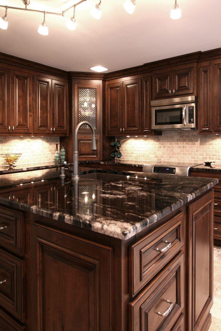 Dark Kitchen Countertops Farmhouse Style Kitchen Cabinets Dark