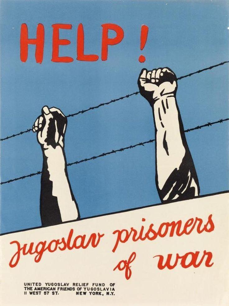 VARIOUS ARTISTS. [WORLD WAR II / JUGOSLAVIA.] Group of 4 posters.