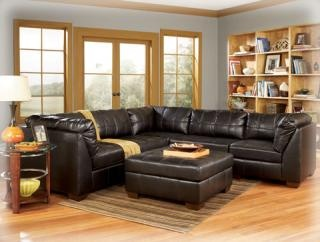 I'd like a leather sofa because it'd be easier to clean between a dog and future kids.