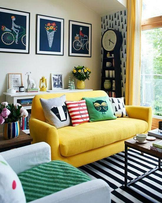 Renkli Oturma Odası Fikirleri