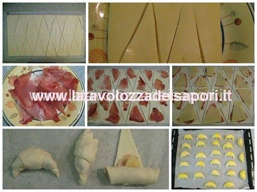 Mini Croissant Salati con Speck ed Edamer   http://www.latavolozzadeisapori.it/ricette/mini-croissant-salati-con-speck-ed-edamer