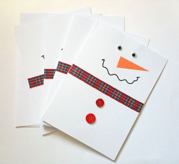 These Adorable Snowmen Cards Are Perfect To Shoo Away Winter Blues & Brighten Someones Day! 6 - 5x7 Inch Cards With Envelopes Included. 100% Handmade Luxury Greeting Card. High Quality Materials Used To Create All Of My Unique Cards. Blank Inside. Cards May Vary Slightly From What Is Pictured Due To Their Handmade Quality.
