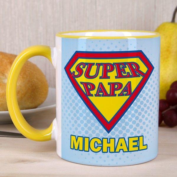 Super Papa - die perfekte Tasse zum Vatertag