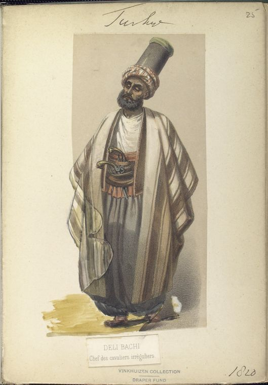 Chief of Irregular Cavalry. The Vinkhuijzen collection of military uniforms / Turkey, 1818. See McLean's Turkish Army of 1810-1817.