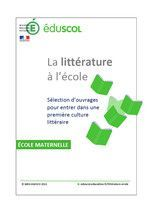 École maternelle - Sélection pour une première culture littéraire à l'école maternelle - Éduscol