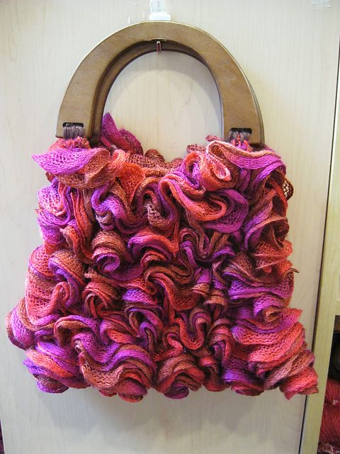 Knit Pattern Ruffle Bag : 34 best Ruffle yarn ideas images on Pinterest