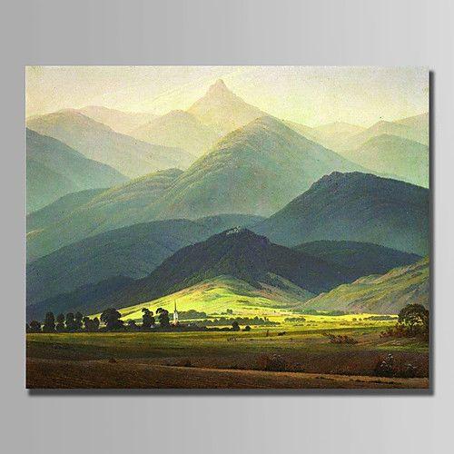 Pintados à mão Paisagem Horizontal,Modern 1 Painel Tela Pintura a Óleo For Decoração para casa de 2017 por R$918.83