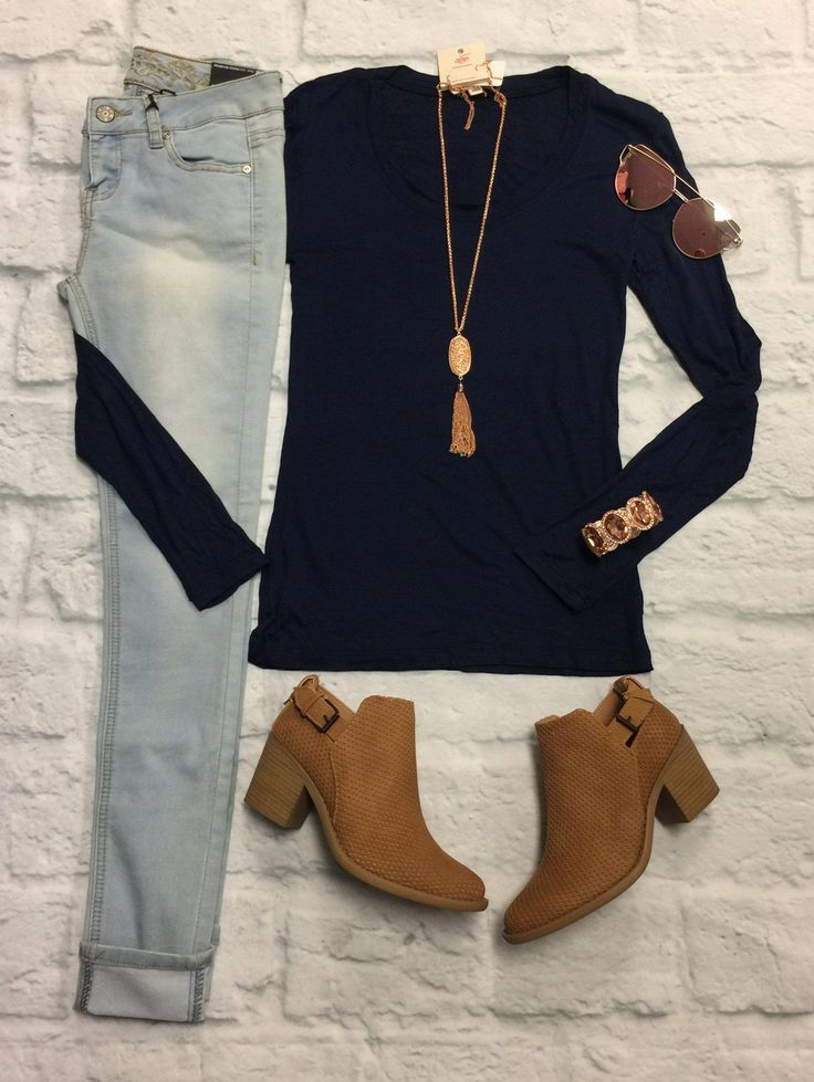 These Basic Long sleeve V-neck Tops are Long and Lean and made of the softest Ma…