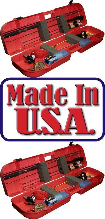 Ice Fishing Rods 179947: Mtm Ice Fishing Rod Box Case Red New Free Shipping BUY IT NOW ONLY: $40.43