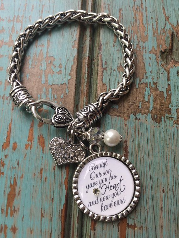 Personalized DAUGHTER in LAW bracelet our son gave you by TrendyTz
