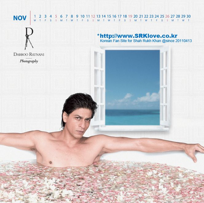 Shah Rukh Khan - Dabboo Ratnani calendar 2006